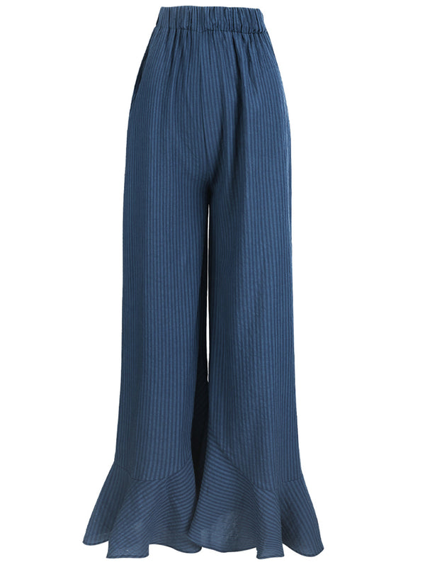 Romeo Linen WIde-legged Pants - SINCETHEN