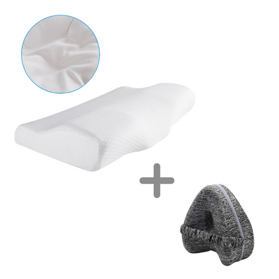 Contoured Pillow and Knee Pillow Bundle - Body Massager