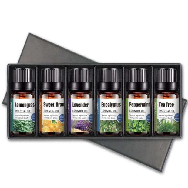 Essential Oils Gift Set - 6 Pack Natural Essential Oil - Body Massager
