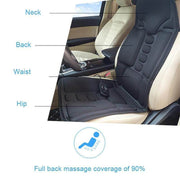 Full-Body Vibration Massage Chair Pad  with Heat Option - Car Seat Massager - Body Massager