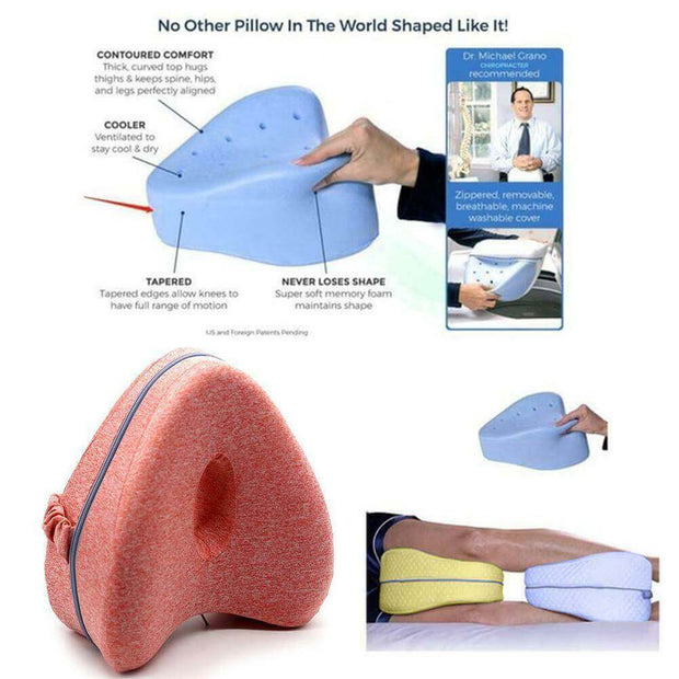 Heart-Shaped Memory Foam Knee Pillow - Body Massager