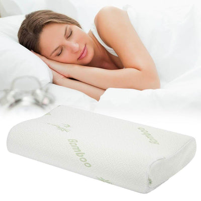 Memory Foam - Orthopedic Large Bamboo Pillow - Body Massager