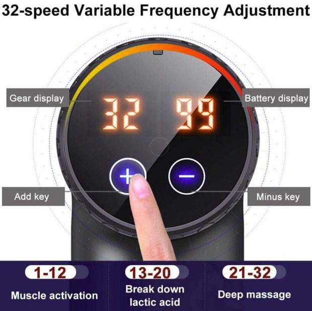 Professional Massage Gun 32 Speed with Touchscreen - Body Massager