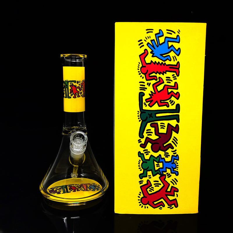 Keith Haring Glass Beakers