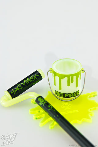 "Ski Mask: ""Paint Roller Dabber / Bucket Dish Green"""