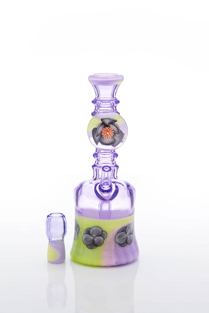 Delong x Blue Grass Glass Purple Rain / Slyme Mini Flower Tube