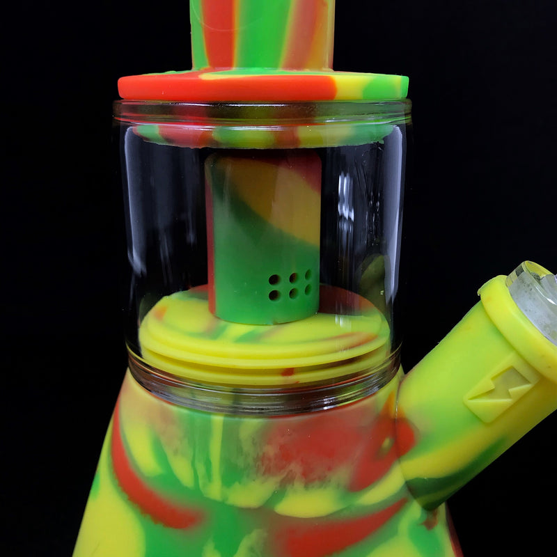 Waxmaid Silicone/Glass Waterpipe w/ Perc