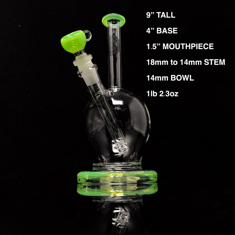 Infamous Glass Inverted Wine Glass Water Pipe (Accented)