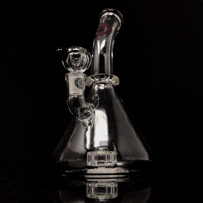 Infamous Glass Mini Beaker Bent Neck (Clear)