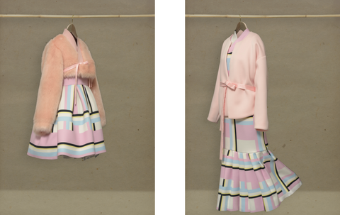 Modern traditional hanbok korean fashion style design jeogori baji dress women men