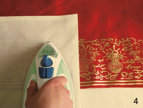 How to iron Korean hanbok gold silver gilt embroidery