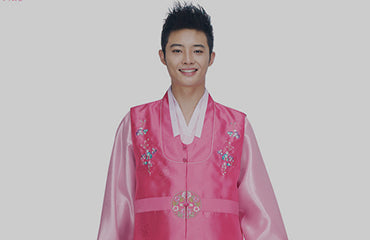 Men's hanbok traditional and modern pink fashionable stylish suits