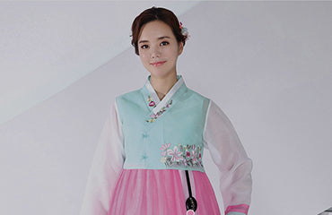 Women's stylish fashionable hanbok traditional and modern
