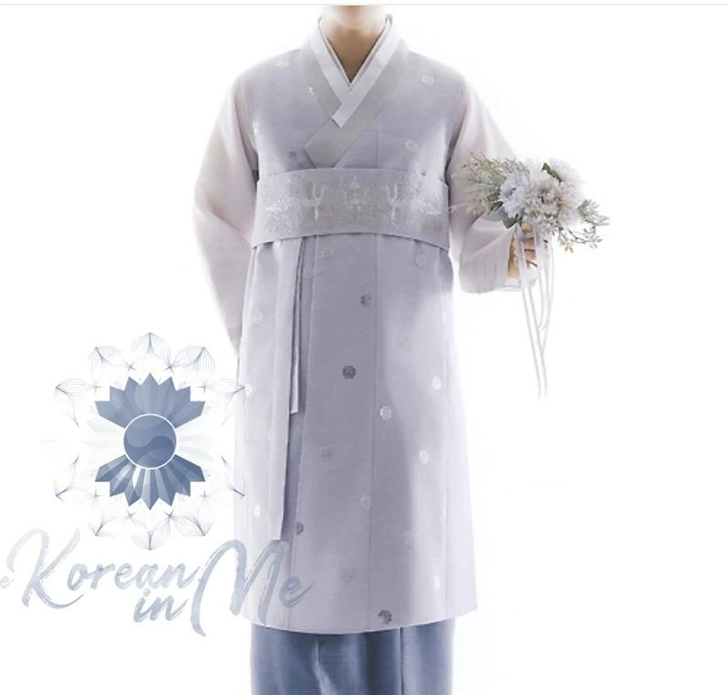 Custom grooms hanbok pastel lilac top and pants