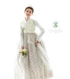 Custom Women's Bridal Hanbok: Spring Meadow