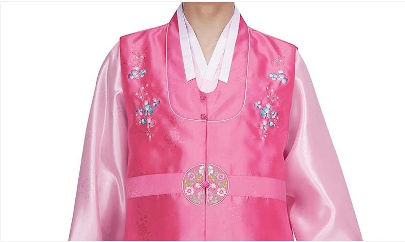 men's korean hanbok with pink top