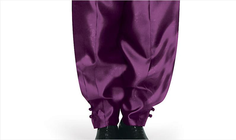 Men's Korean Hanbok: Silver Top Purple Pants-The Korean In Me