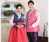 Wedding Hanboks: Blue and Pink Couples Set-The Korean In Me