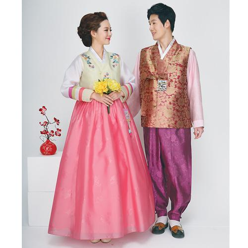 Wedding Hanboks: Gold and Bronze Couples Set-The Korean In Me
