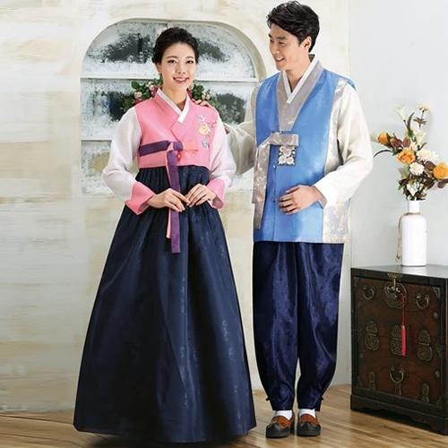 Wedding Hanboks: Pink and Sky Blue Couples Set-The Korean In Me
