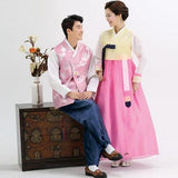 Wedding Hanboks: Yellow and Pink Couples Set