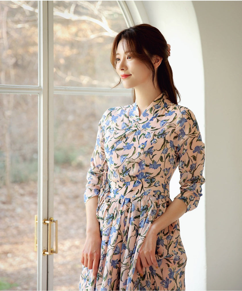 Women's Modern Hanbok: Blue Lily-The Korean In Me