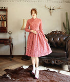 Women's Modern Hanbok: Dreamy Pink Lace Dress