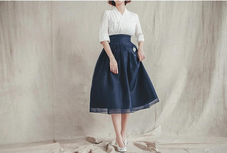 Women's Modern Hanbok: Navy Classic-The Korean In Me