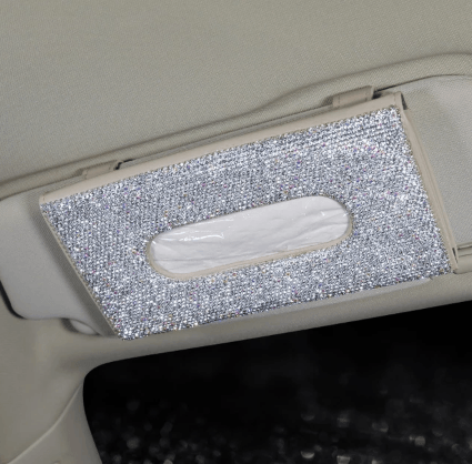 Diamond Car Visor Tissue Holder