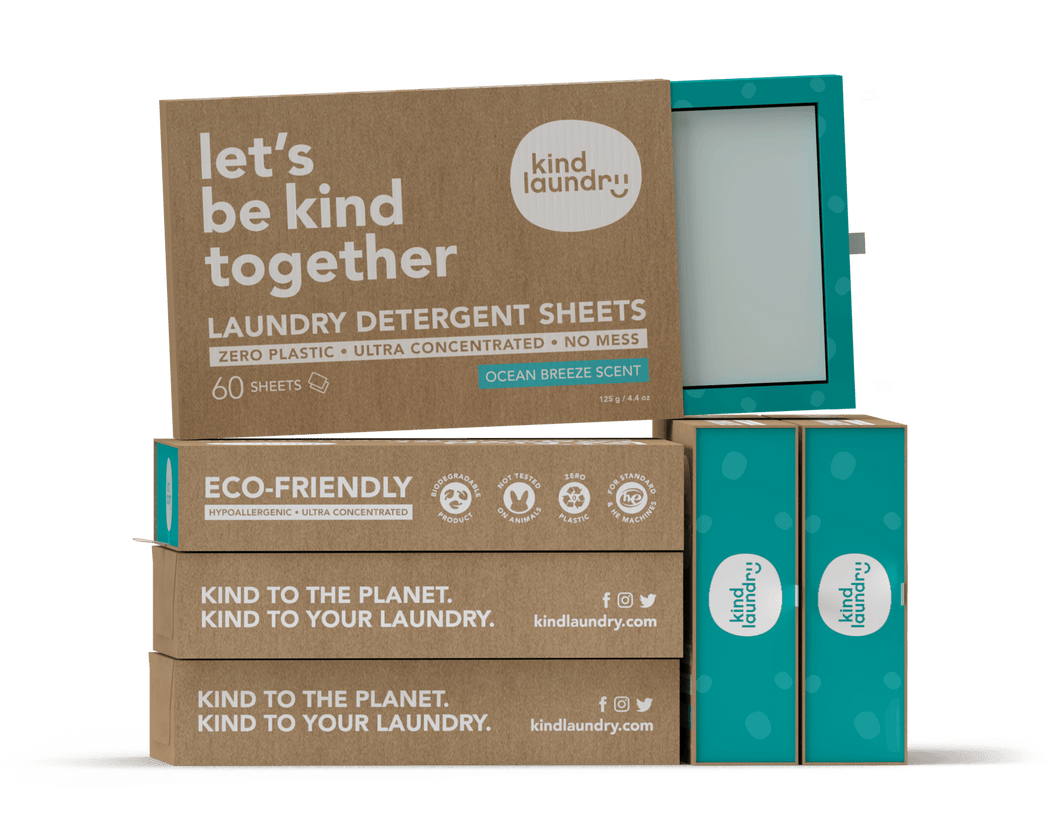 Kind Laundry Detergent Sheets - Ocean Breeze (6 boxes)