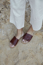 St Agni - Alice Woven Slide in Antique Tan