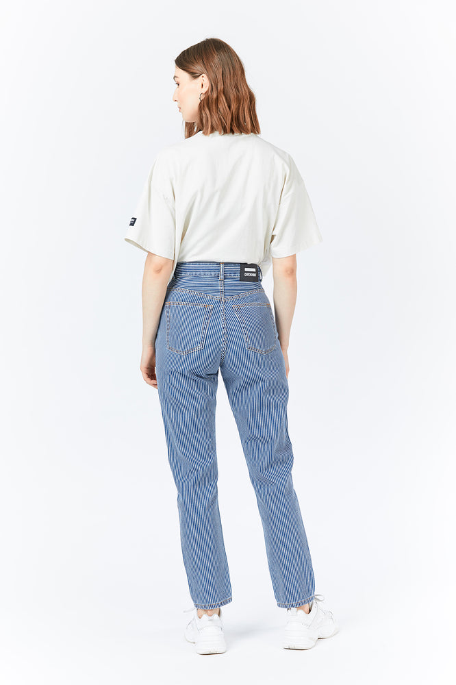 Dr Denim - Nora Jeans in Shift Workers Washed Stripe