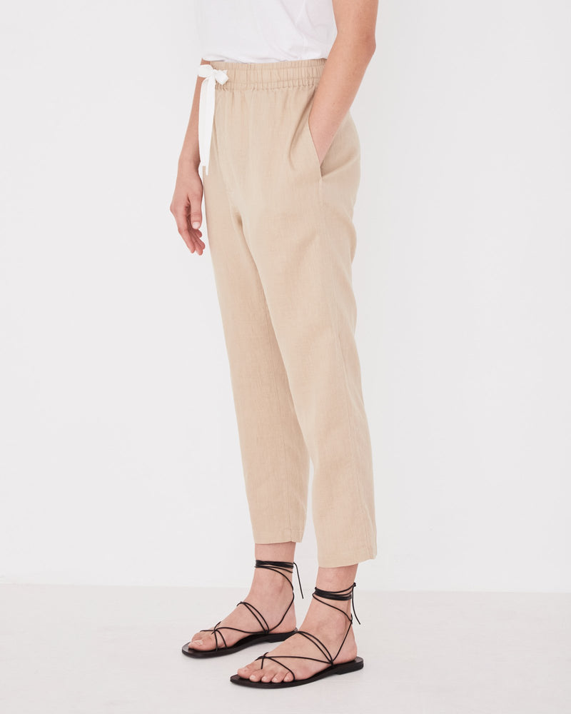 Assembly - Anya Linen Pant in Dover