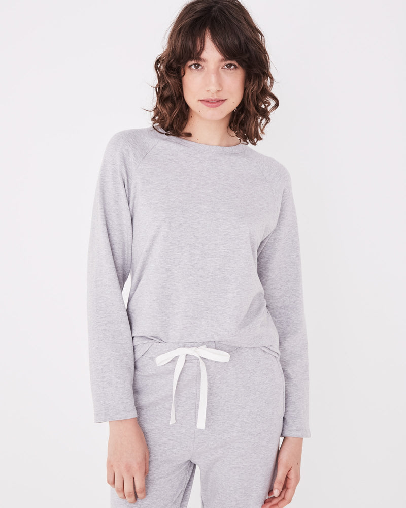 Assembly - Kin Fleece Top in Grey Marle