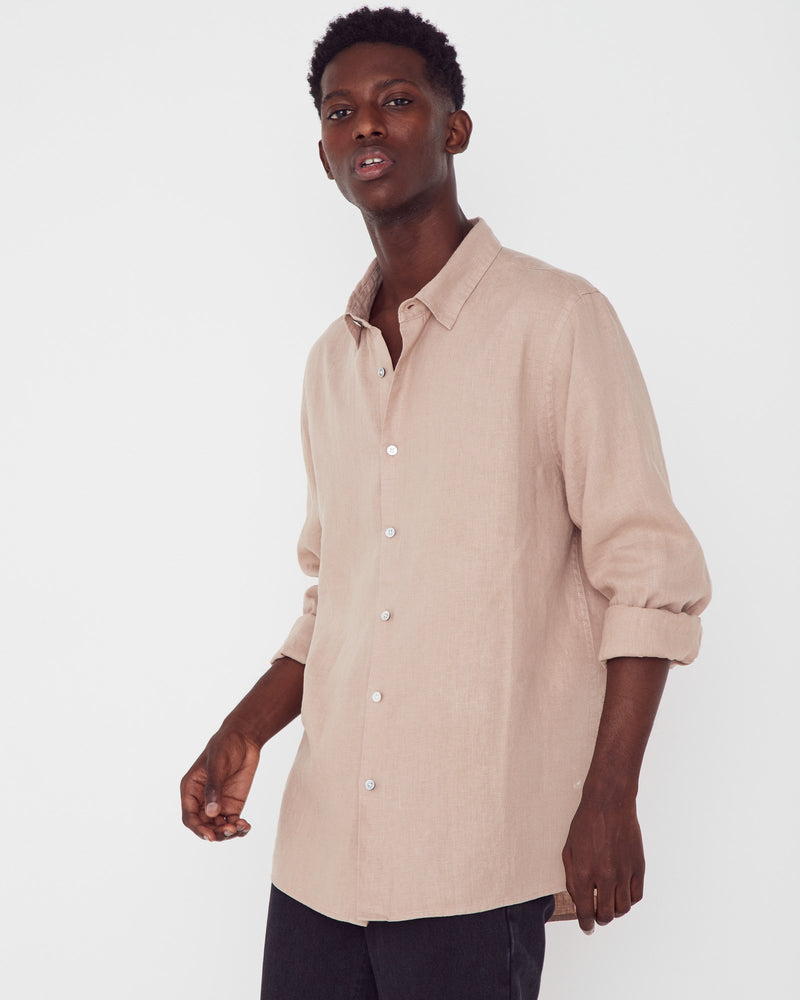 Assembly - Casual Long Sleeve Shirt in Husk