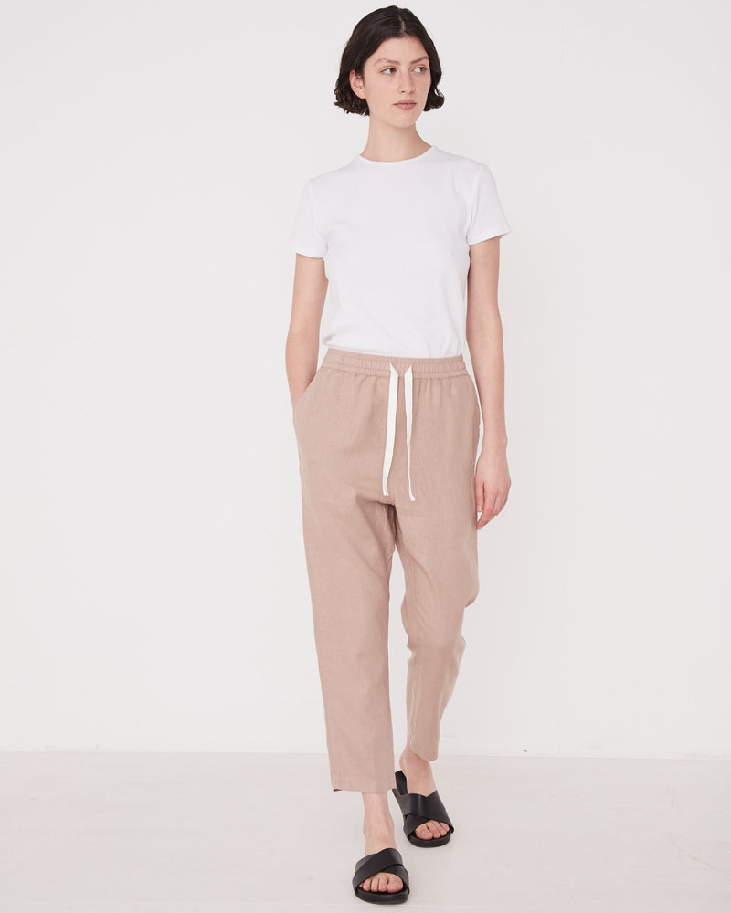 Assembly - Anya Linen Pant in Husk