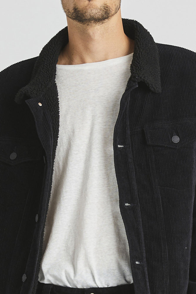 Rollas - Morrison Sherpa Jacket in Black/Black