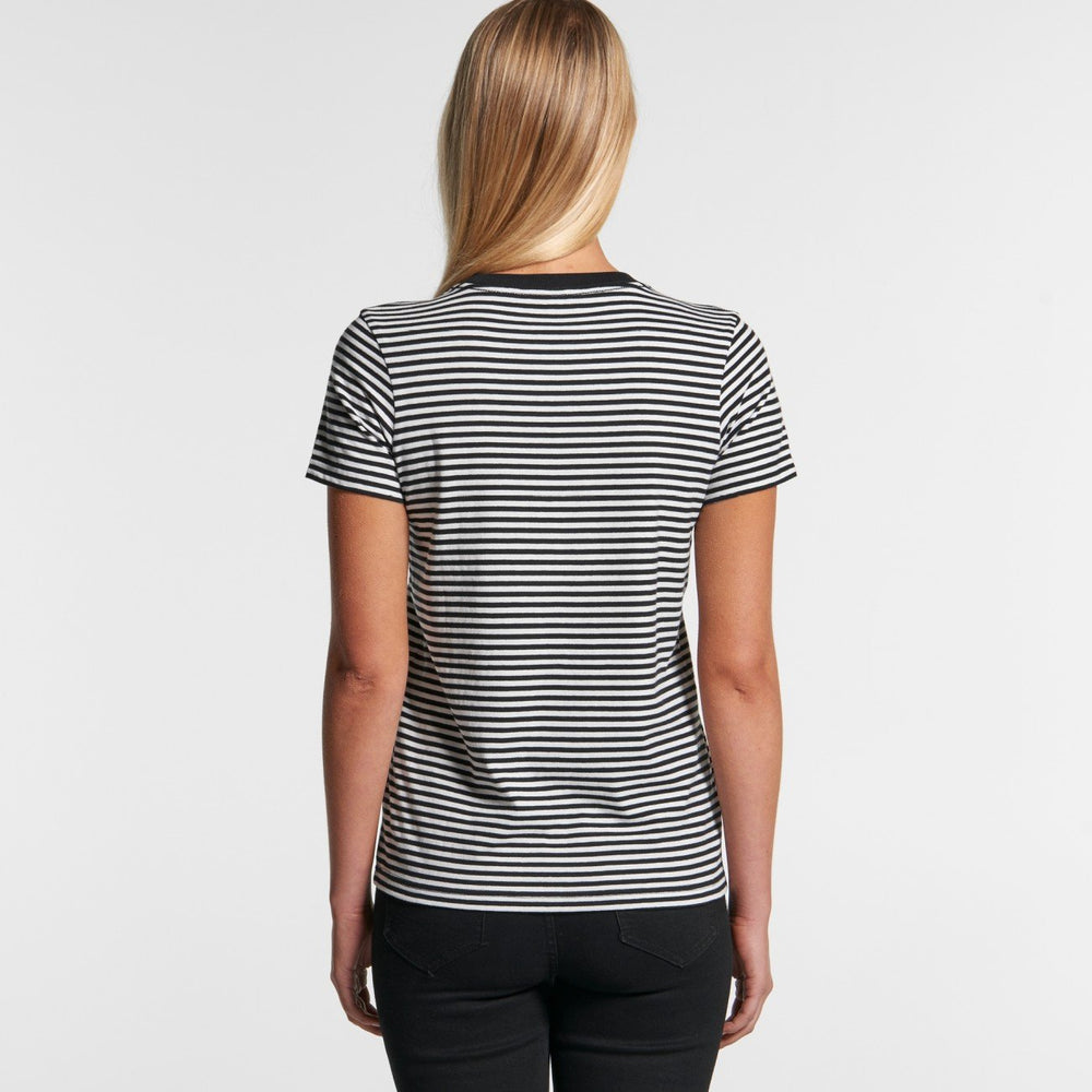 AS Colour - Womens Bowery Stripe Tee Black/Natural