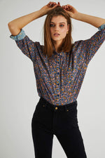 Rollas - Slouch Coast Floral Shirt in Blue