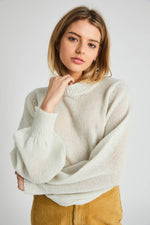 Rollas - Gigi Fluffy Sweater in Vintage White