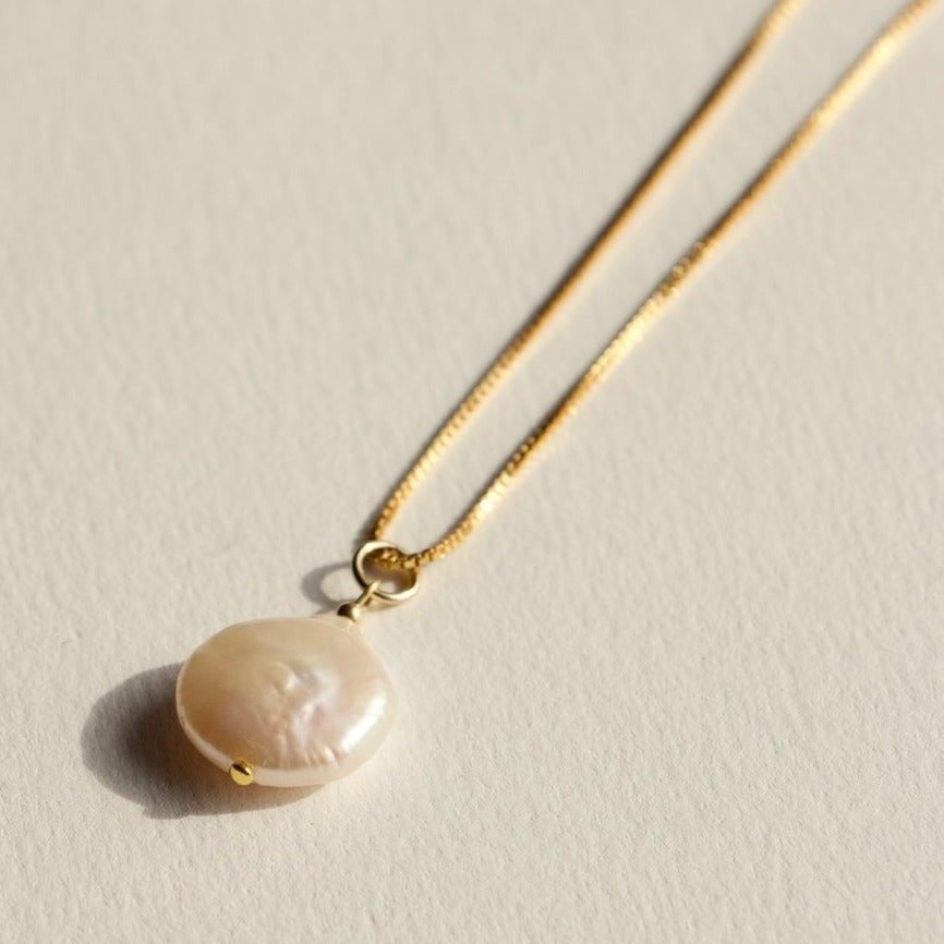 Brie Leon - 925 Fresh Pearl Pendent in Gold