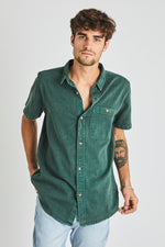 Rollas - Union Bedford Cord Shirt in Trade Green