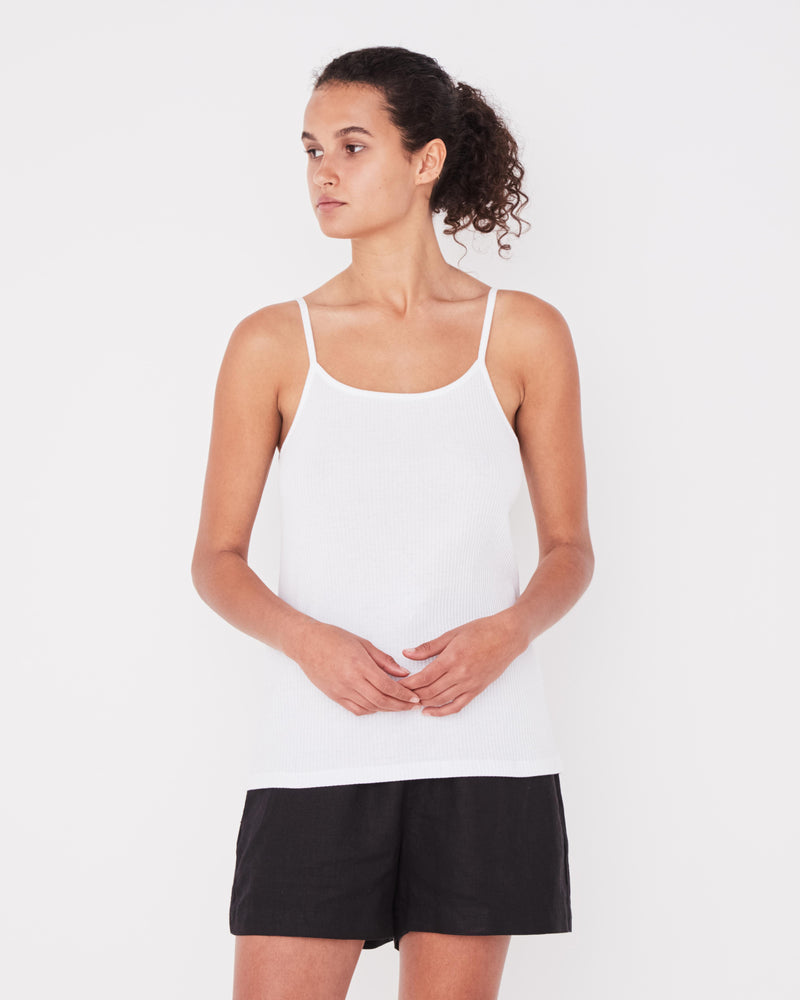 Assembly - Daily Rib Singlet in White