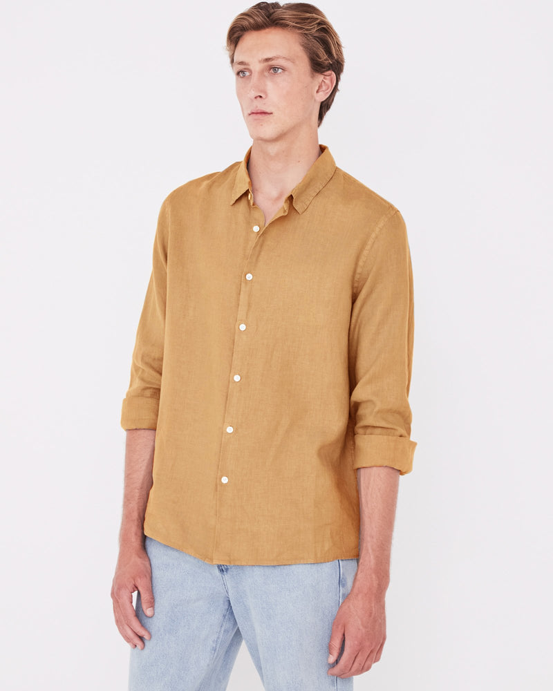 Assembly - Casual Long Sleeve Shirt in Sepia