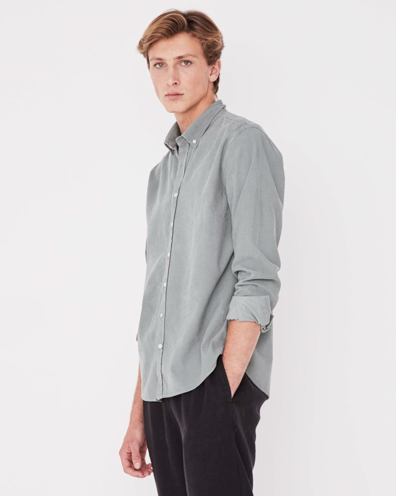 Assembly - Mens Cord Shirt in Mineral Green
