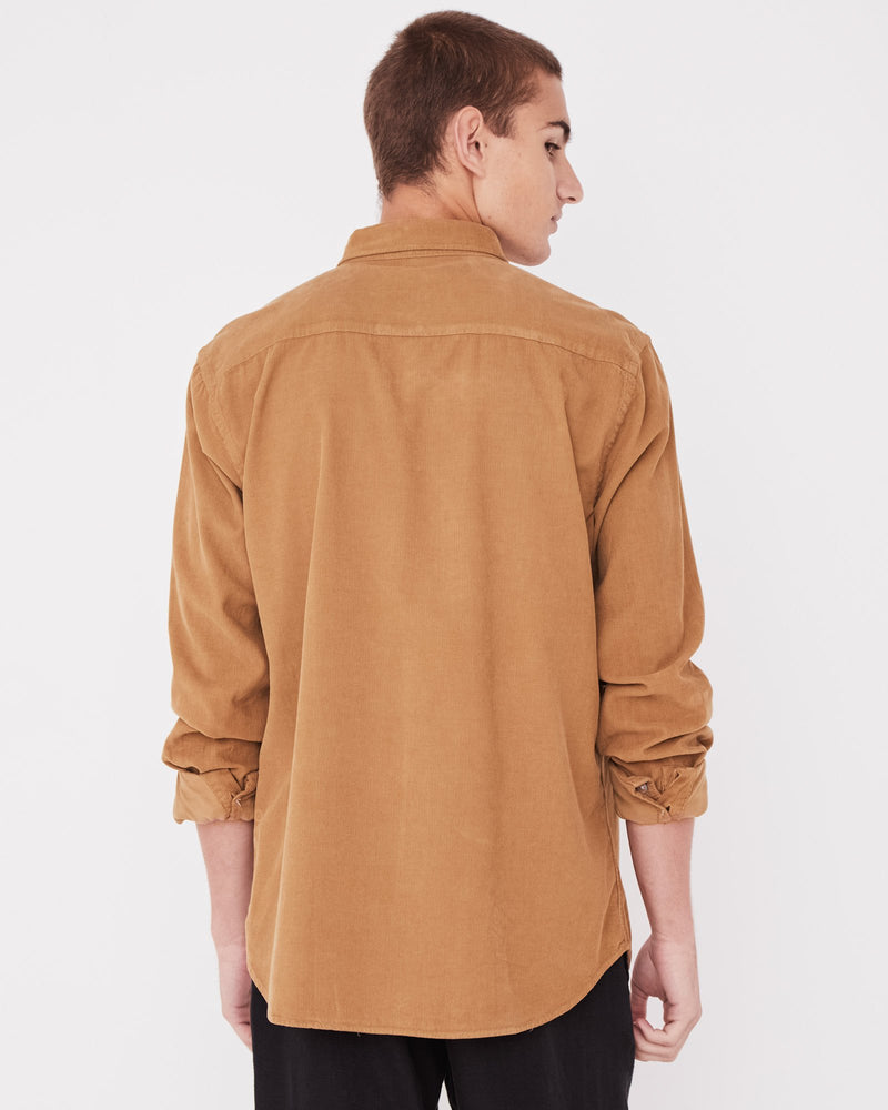 Assembly - Mens Cord Shirt in Sepia