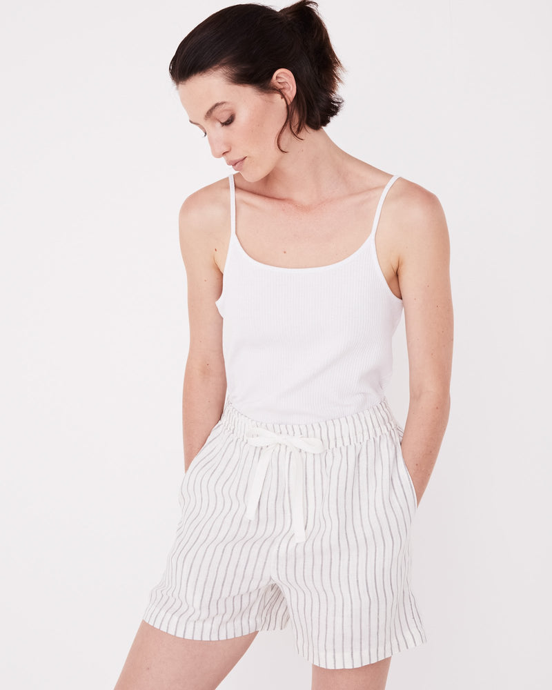 Assembly - Ease Linen Short in Airlie Stripe