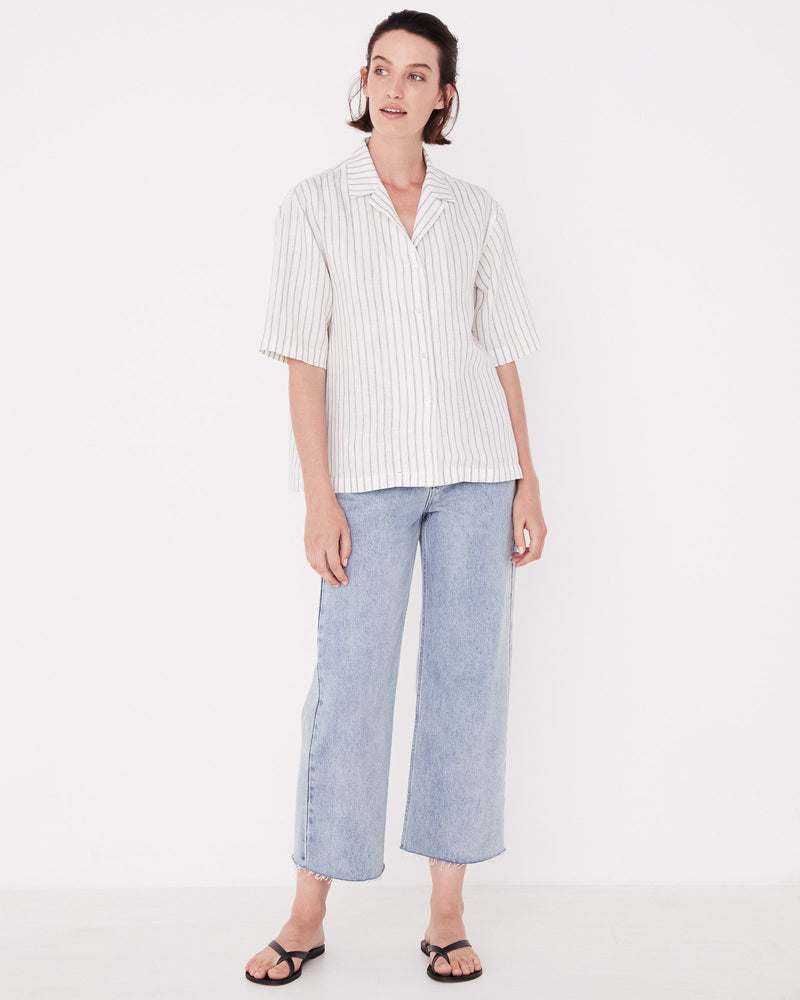 Assembly - Kamala Short Sleeve Shirt In Airlie Stripe