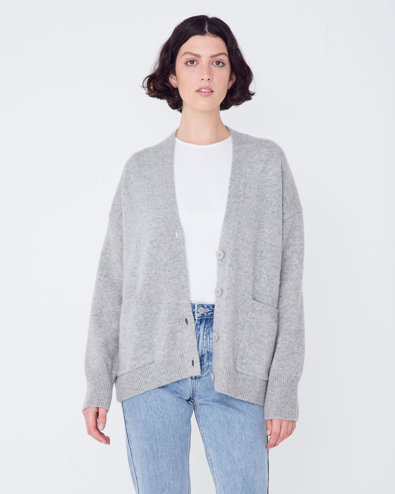 Assembly - New Boxy Cardigan in Grey Marle