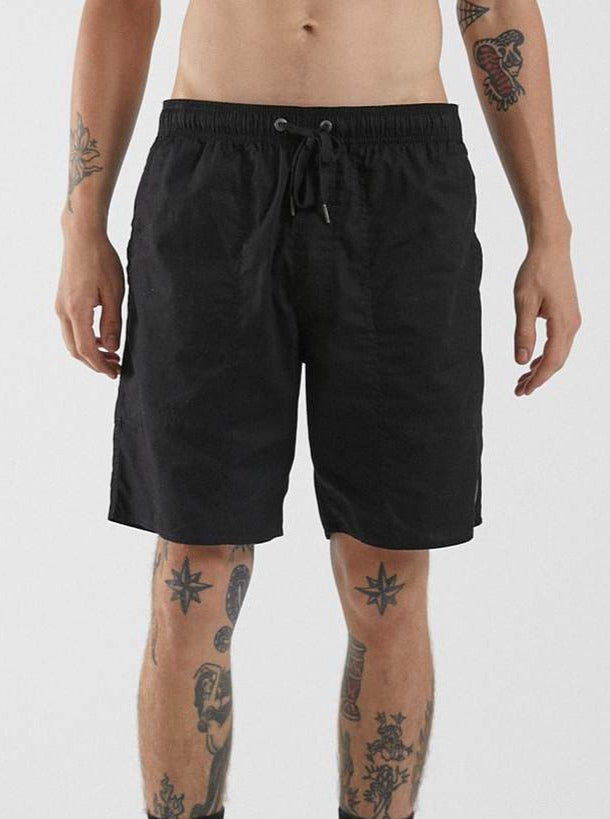 Afends - Baywatch Recycled - Elastic Waist Short - Black